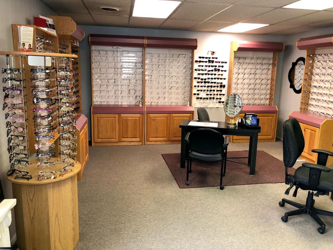 Showroom of frame options