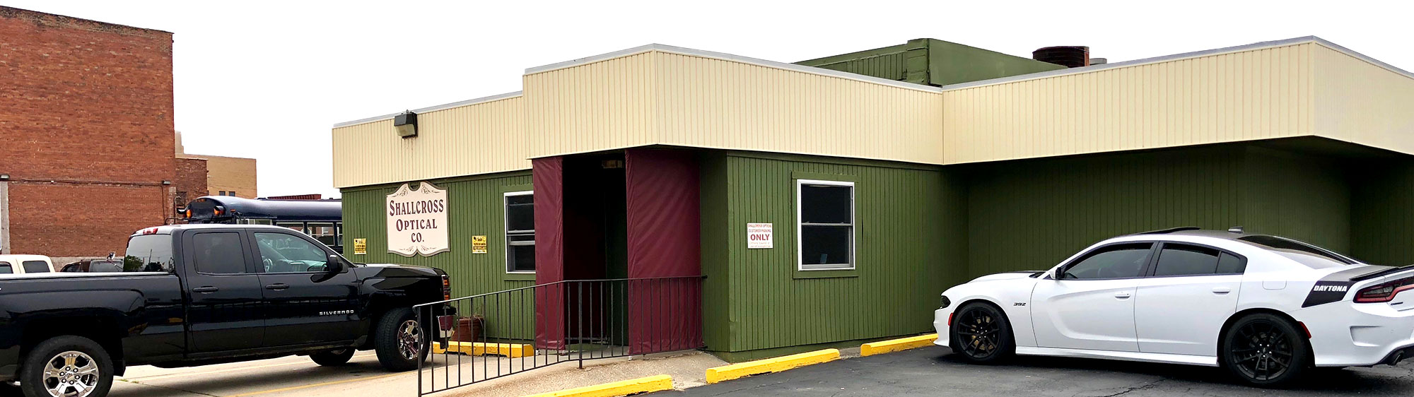 Exterior of building entrance